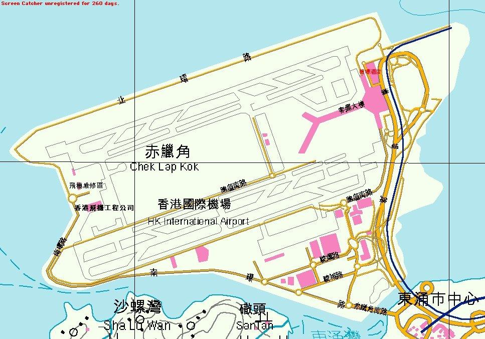 新香港国际机场平面图